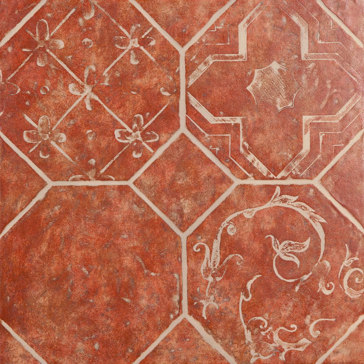 Плитка DECO  OCTAGON ROSSO 45*45 Decorato Octagon Rosso (zwxv82) изображение 1