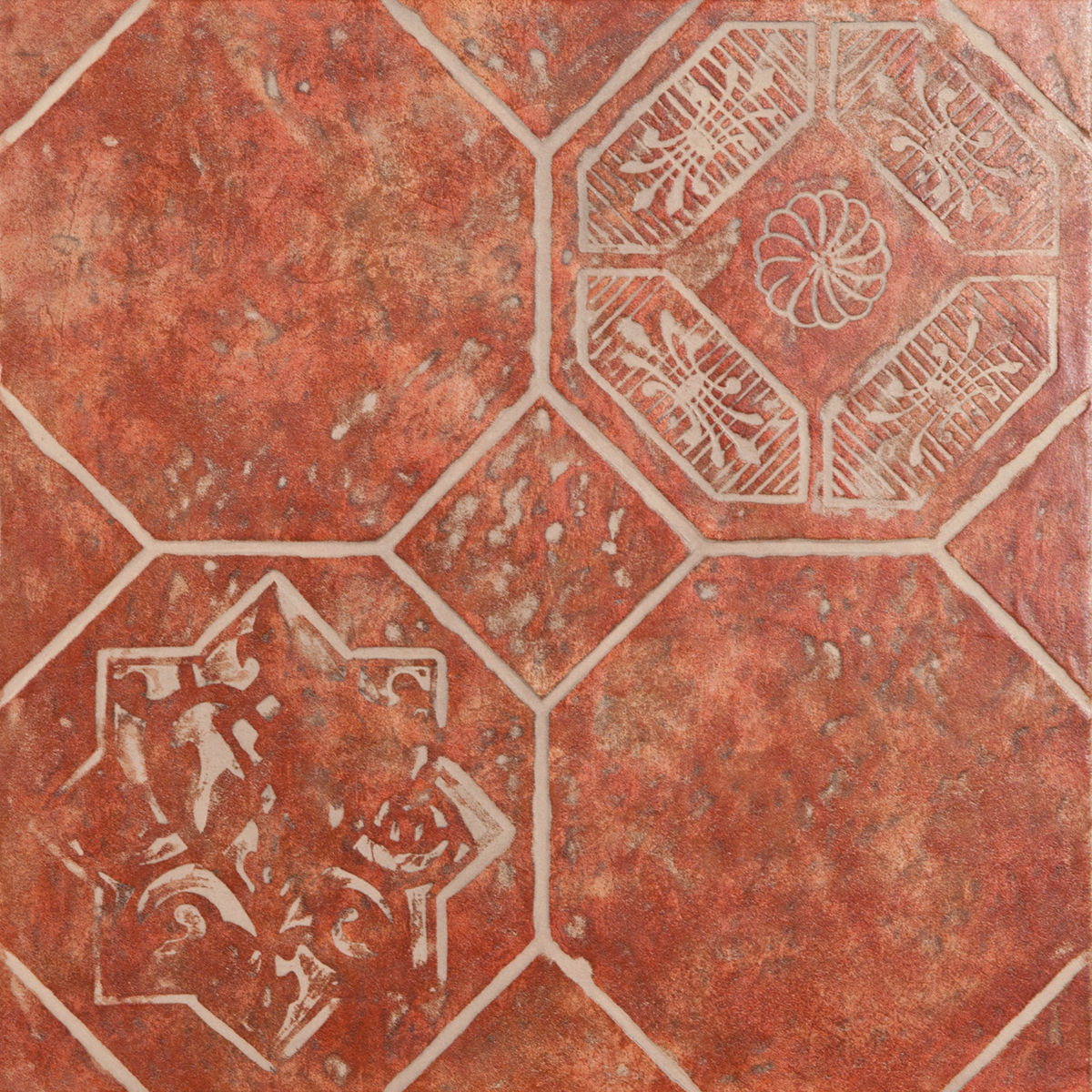 Плитка DECO  OCTAGON ROSSO 45*45 Decorato Octagon Rosso (zwxv82) изображение 0