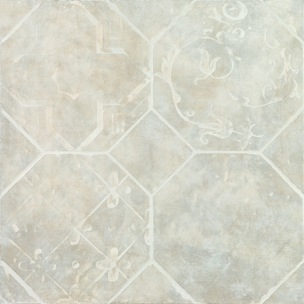 Плитка DECO  OCTAGON BIANCO 45*45 Decorato Octagon Bianco (zwxv81) изображение 0