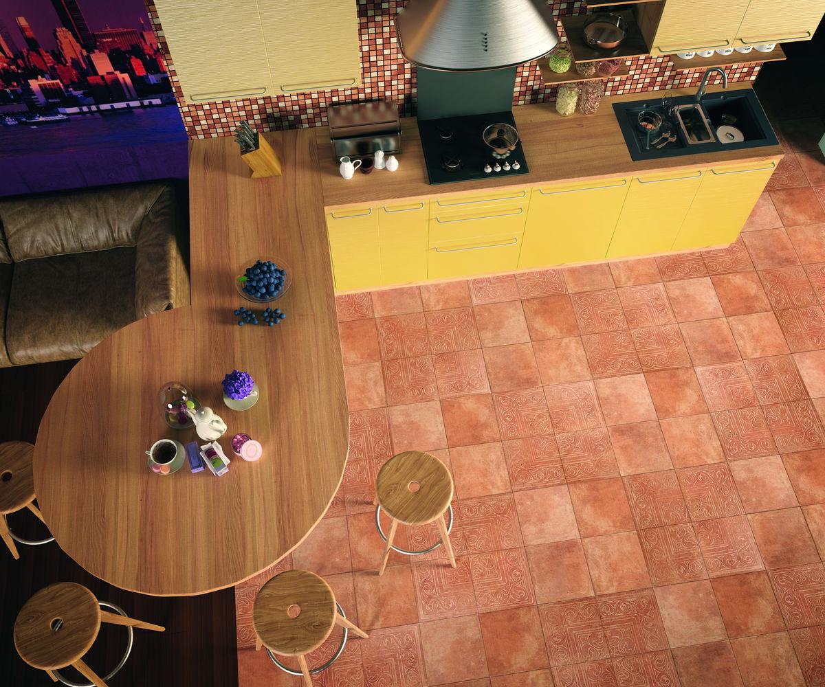 Декор Cotto Classico з 4-х плиток rosa (rax27) изображение 1