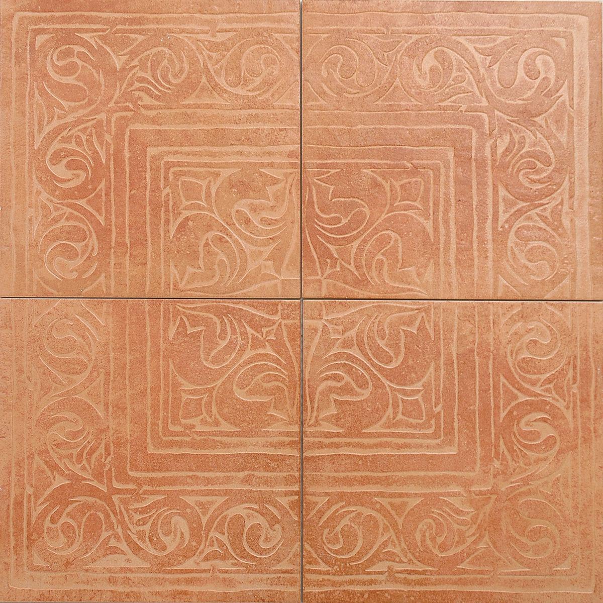 Декор Cotto Classico з 4-х плиток rosa (rax27) изображение 0