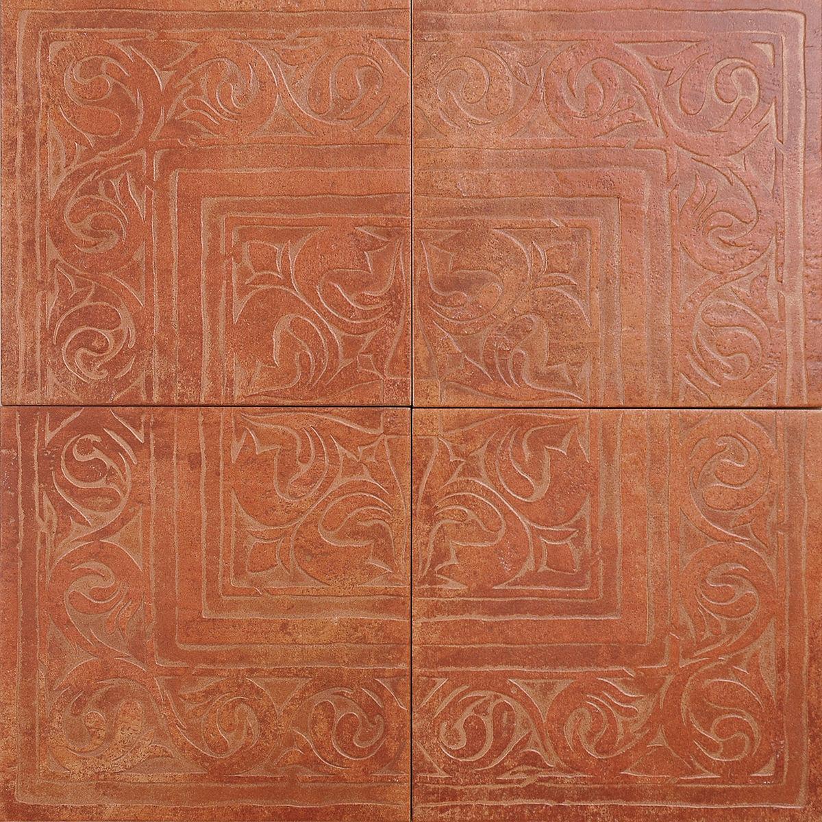 Декор Cotto Classico з 4-х плиток rosso (rax22) изображение 0