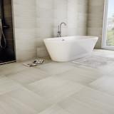 Плитка Marmo Acero Perlato Bianco в ванной