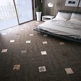 Плитка Mood Wood и декор Zpw Mix Patchwork в спальне