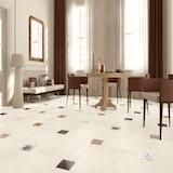 Плитка Stonelite Ivory с декором Zpw Mix Patchwork в гостиной
